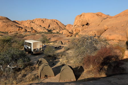 spitzkoppe: Campsites at the Spitzkoppe in Namibia