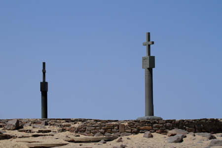 cross: Cape Cross in Namibia Stock Photo