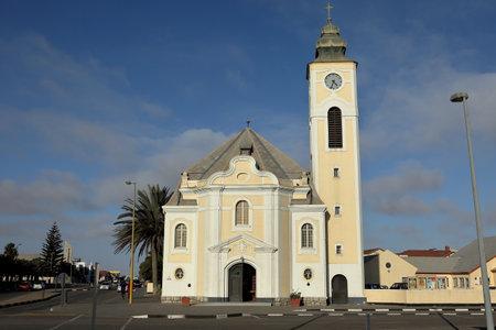 swakopmund: The old church of Swakopmund in Namibia Editorial