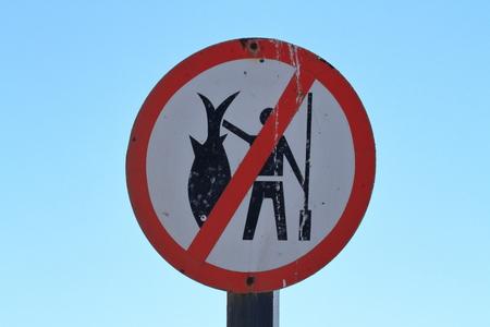 prohibido: La pesca est� prohibida en Swakopmund