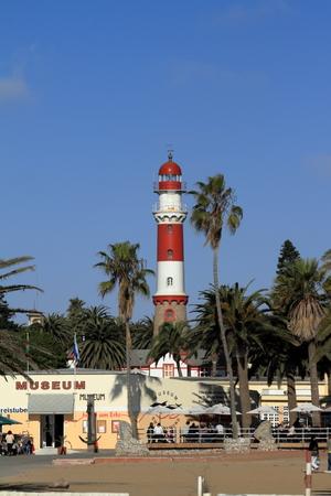 swakopmund: The lighthouse of Swakopmund in Namibia
