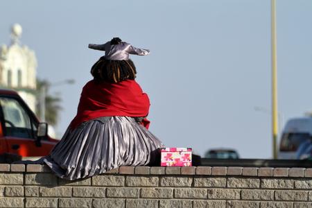 ナミビアのヘレロ女性 写真素材