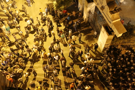 Protests in the city of Cairo in Egypt