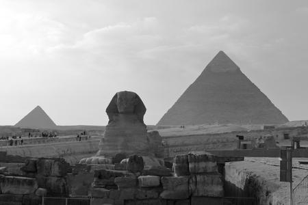 sphinx: Las Pirámides y la Esfinge de Giza en Egipto