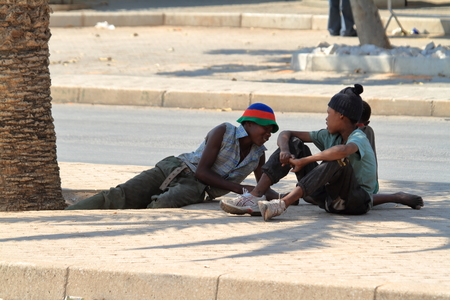 streetlife: People in the streets of Swakopmund in Namibia