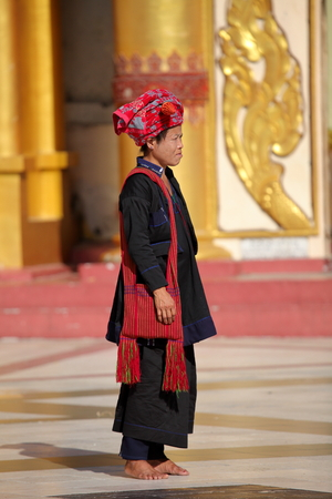 garb: Traditional woman in Myanmar