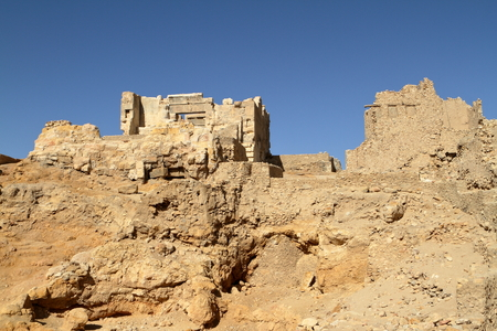oracle: The Temple of Ammon in the oasis town of Siwa in Egypt