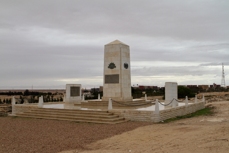 commonwealth: Commonwealth war cemetery at El Alamein in Egypt Stock Photo