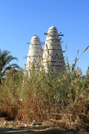 oasis: Dovecote in the Siwa Oasis in Egypt