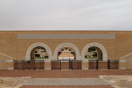 el: Italian war graves memorial of El Alamein in Egypt