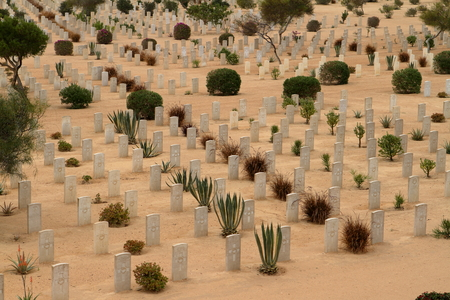 el: Commonwealth war cemetery at El Alamein in Egypt Stock Photo