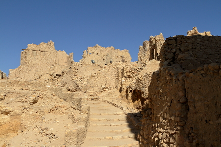 oasis: The Temple of Ammon in the oasis town of Siwa in Egypt
