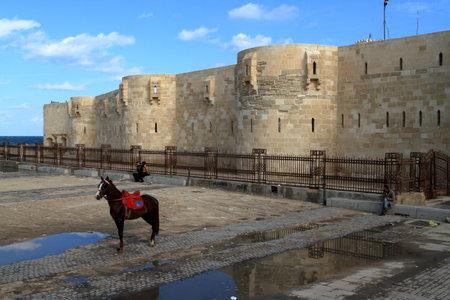 citadel: The Citadel of Alexandria in Egypt