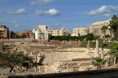 roman amphitheater: The ruins of the Roman amphitheater in Alexandria
