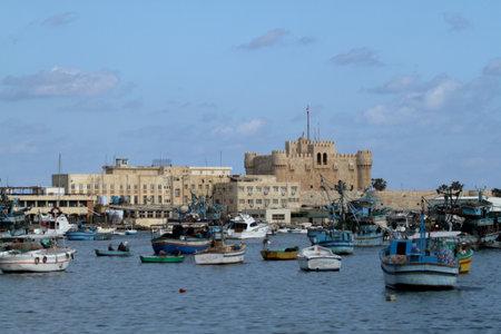 alexandria egypt: The Citadel of Alexandria in Egypt