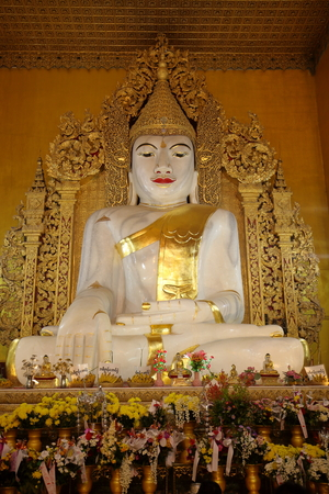 gods: Buddhas and gods statues in Myanmar