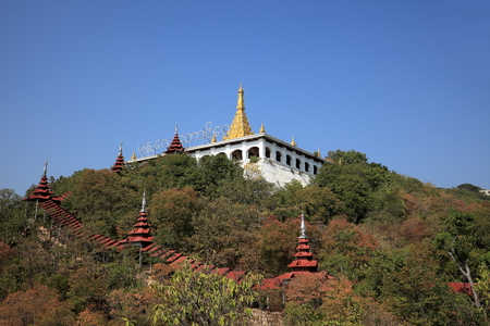 monasteries: Buddhist Monasteries and temples in Mandaley in Myanmar Stock Photo