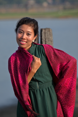 laughing girl: Women in Myanmar