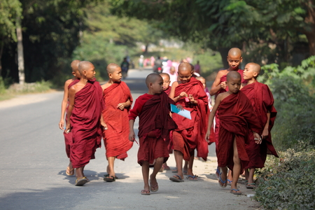 monks: Young monks in Myanmar
