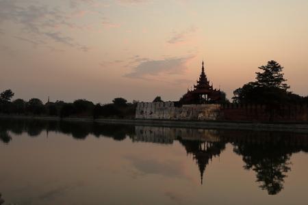 Royal Palace: The Royal Palace of Mandalay Stock Photo