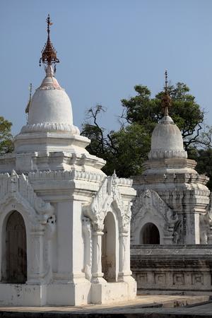 stupas: Pagodas and stupas at Mandalay in Myanmar Stock Photo
