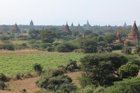 bagan: The temples of Bagan in Myanmar Stock Photo