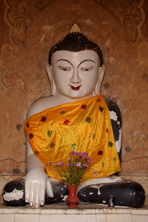 bagan: Buddha statue in Bagan Stock Photo