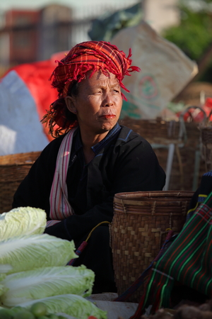 weekly market: The weekly market of Kalaw in Myanmar Stock Photo