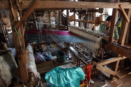 weaving: Silk weaving in Myanmar