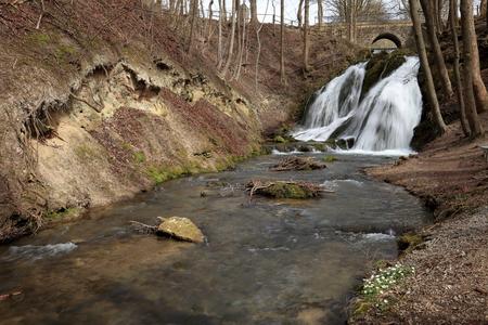 チューリンゲン州の Grossbartloff でルター滝 写真素材