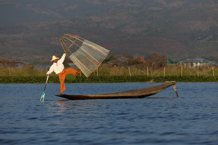inle: The leg rowers from Inle Lake in Myanmar