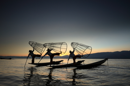 The leg rowers from Inle Lake in Myanmar