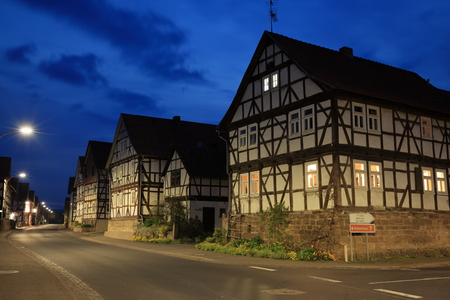 historic: Historic half-timbered houses in Germany