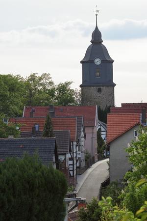 steeples: The Castle Church of Herleshausen Stock Photo