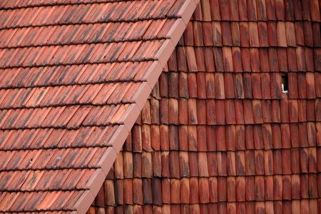 housetop: Tiles and building facade