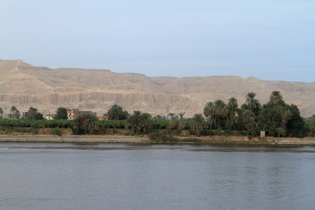 the nile: The Nile in Egypt Stock Photo