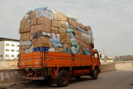 Overweight trucks in Egypt