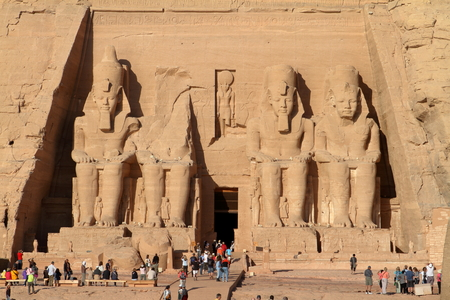 The temples of Abu Simbel in Egypt 新聞圖片