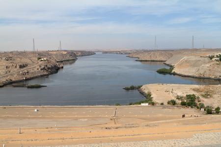 The Lake Nasser in Egypt