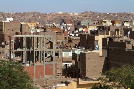 condominiums built: The city of Aswan in Egypt Stock Photo