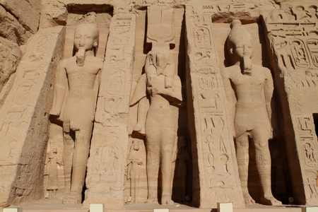 abu simbel: The temples of Abu Simbel in Egypt Stock Photo