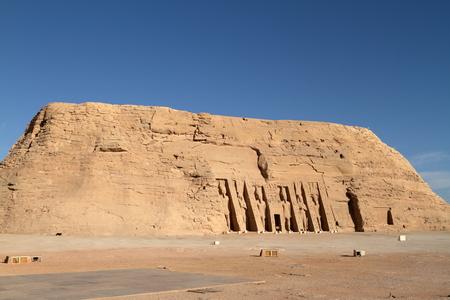 abu simbel: The temples of Abu Simbel in Egypt Stock Photo