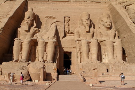 abu simbel: The temples of Abu Simbel in Egypt Editorial