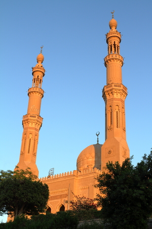 house of god: The Mosque of Aswan in Egypt