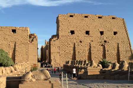 thebes: The temple of Karnak in Egypt