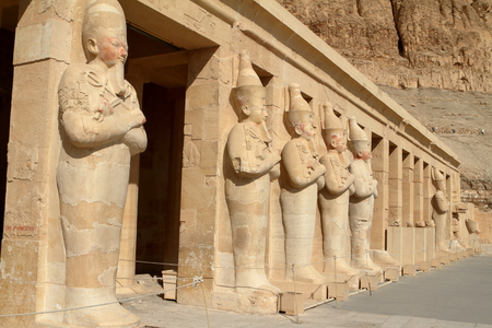 thebes: The Temple of Hatshepsut in Egypt Stock Photo