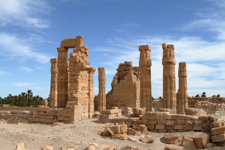 The temple ruins of Soleb in Sudan