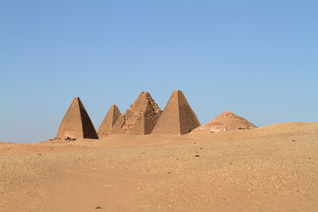 The pyramids of Jebel Barkal in Sudan