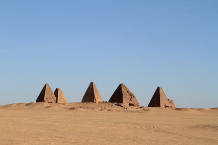 Sudan: The pyramids of Jebel Barkal in Sudan