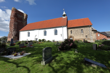 old church: The Old Church of Pellworm in Schleswig Hollstein Editorial